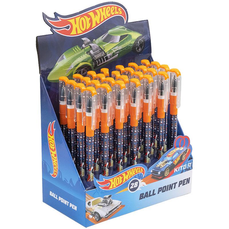 Ручка кулькова Kite Hot Wheels HW21-032, синя