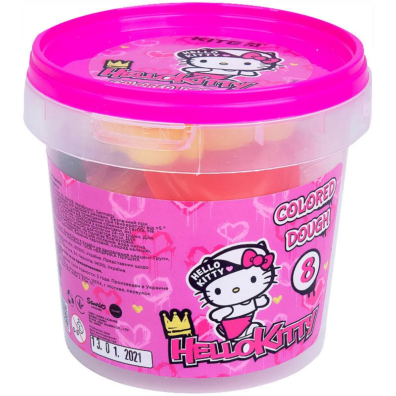 Тісто для ліпки кольорове Kite Hello Kitty HK21-137, 8*20г+2 формочки+стек