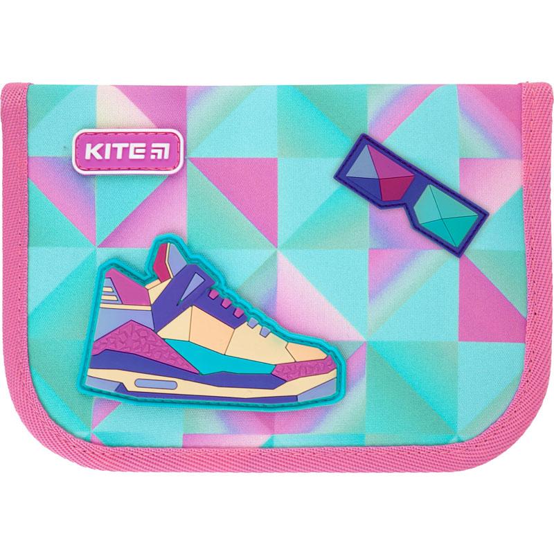 Пенал без наполнения Kite Education Cool girl K21-622-7, 1 отделение, 2 отворота