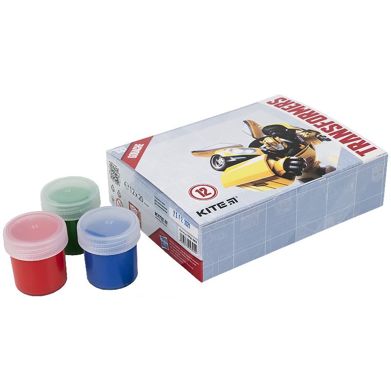 Гуаш Kite Transformers TF21-063, 12 кольорів