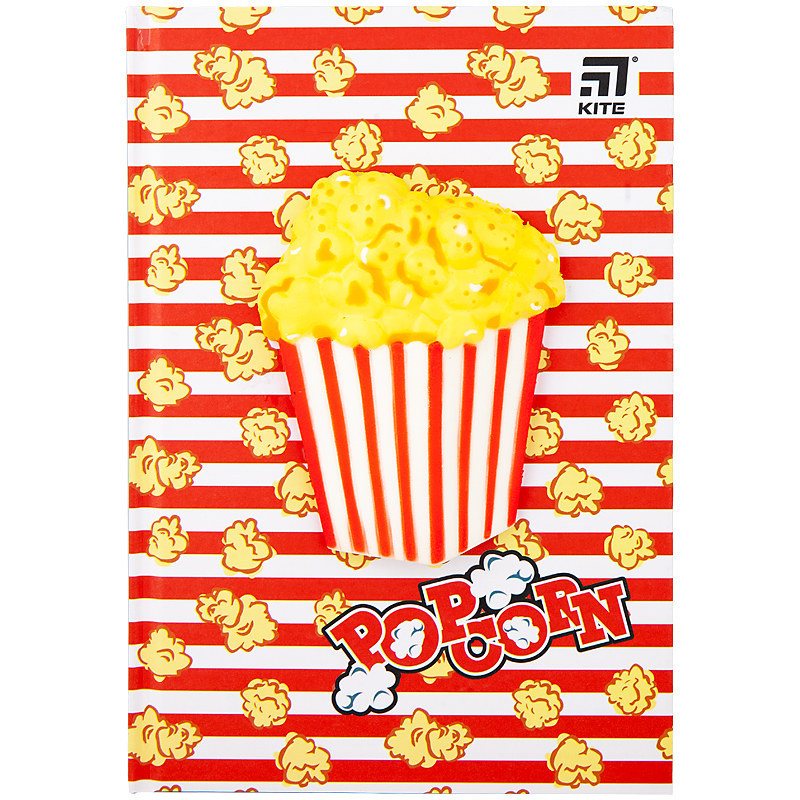 Блокнот Kite Popcorn K20-284-4, сквиш, А5, 80 листов, клетка