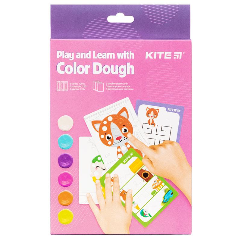 Набір ліпи і розвивайся Kite K21-326-01, 6 кольорів + 5 карток