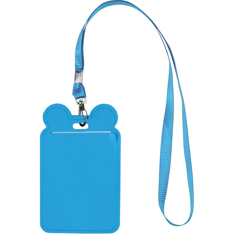 Бейдж вертикальний Kite K21-296-02, на шнурку, синій