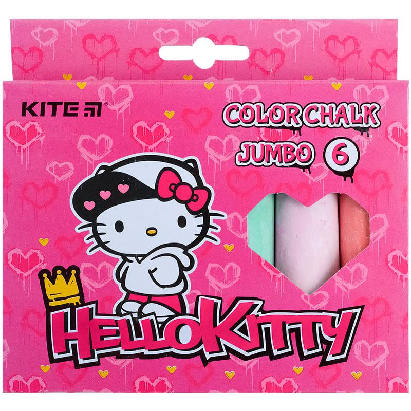 Крейда кольорова Kite Jumbo Hello Kitty HK21-073, 6 кольорів