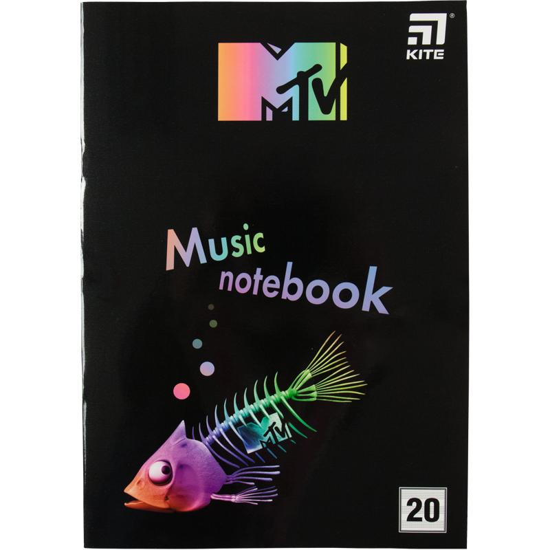 Тетрадь для нот Kite MTV MTV20-404-2, А4, 20 листов