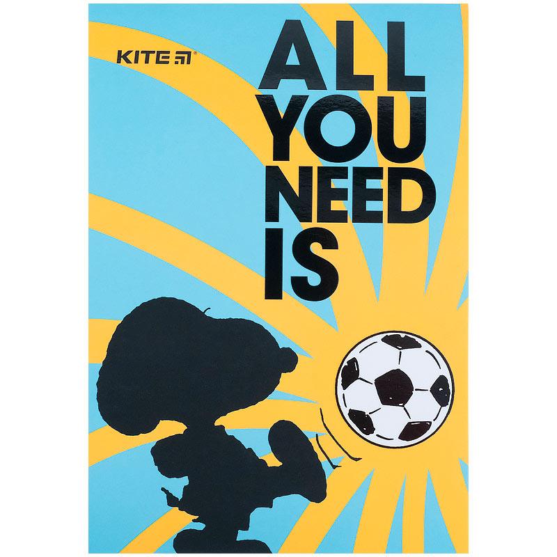 Блокнот-планшет Kite Snoopy SN21-194-4, A5, 50 листов, клетка