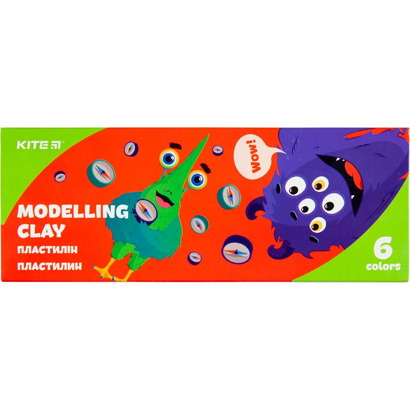 Пластилін восковий Kite Jolliers K20-081, 6 кольорів, 120 г