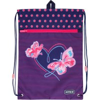 Сумка для обуви с карманом Kite Education Butterflies K21-601M-3