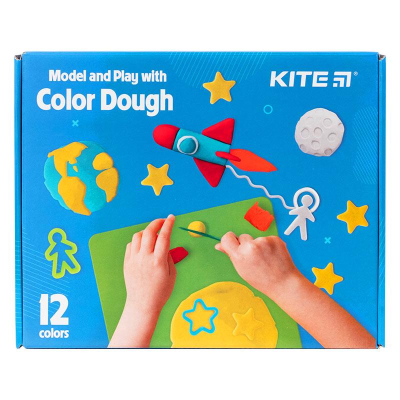 Набір ліпи і розвивайся Kite K21-325-02, 12 кольорів + інструменти