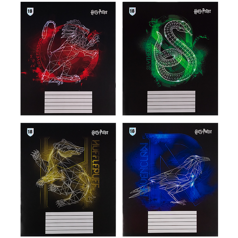 Зошит шкільний Kite Harry Potter HP21-236-2, 18 аркушів, клітинка