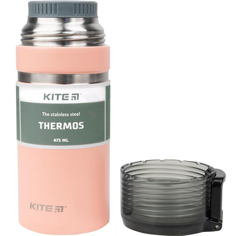 Термос Kite K21-320-01, 473 мл, персиковый