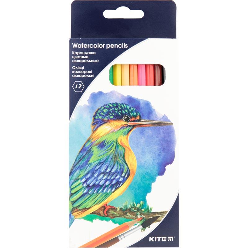 Карандаши цветные акварельные Kite K18-1049, 12 шт.
