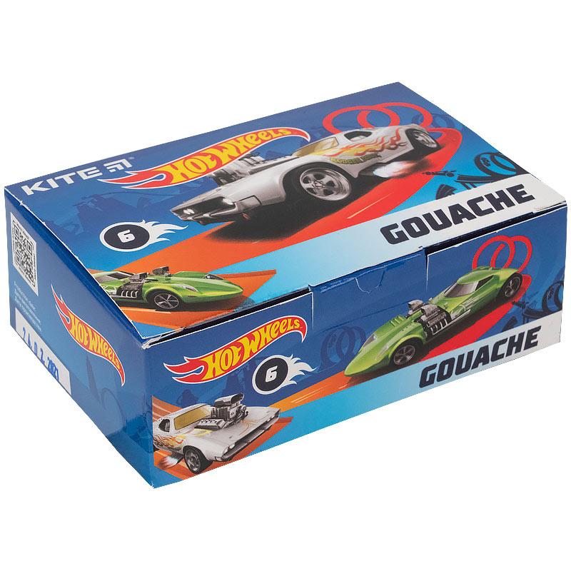 Гуаш Kite Hot Wheels HW21-062, 6 кольорів