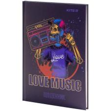 Дневник школьный Kite Love music K21-262-2, твердая обложка