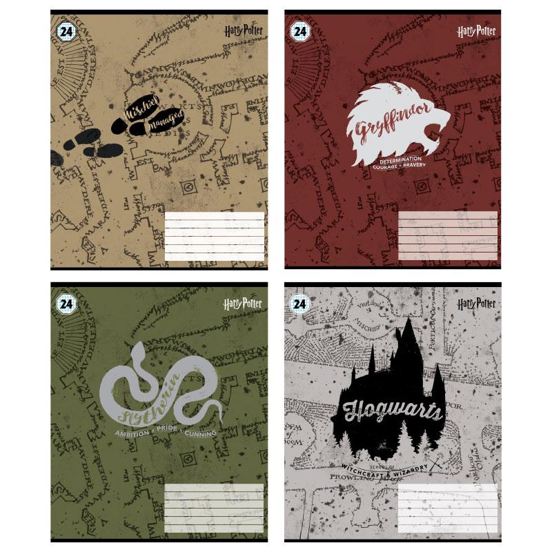 Зошит шкільний Kite Harry Potter HP21-238, 24 аркуша, клітинка