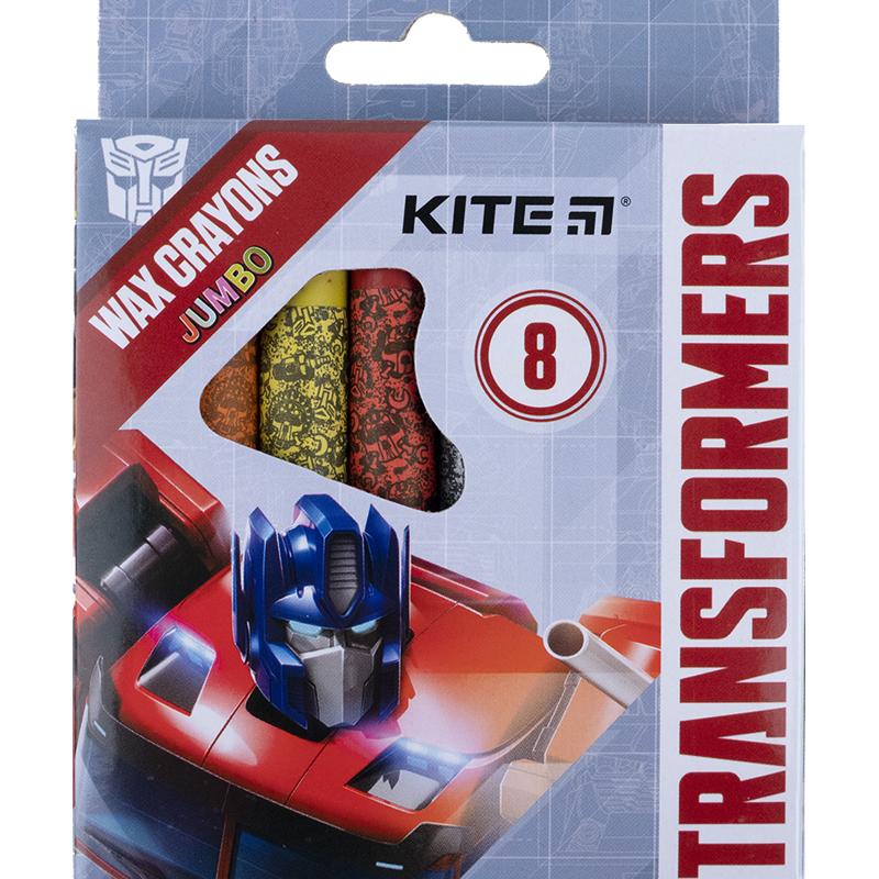 Крейда воскова Kite Jumbo Transformers TF21-076, 8 кольорів