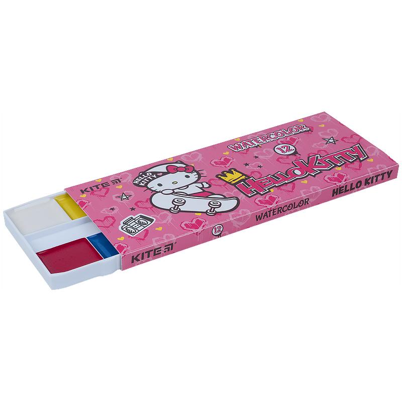 Фарби акварельні Kite Hello Kitty HK21-041, 12 кольорів