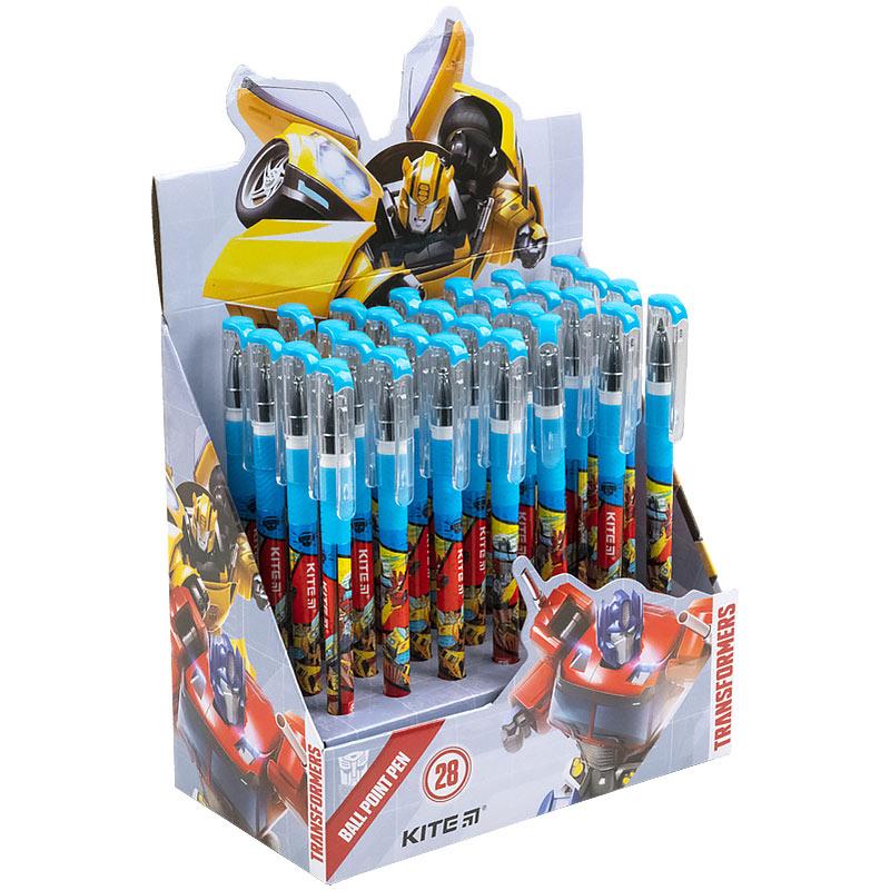 Ручка кулькова Kite Transformers TF21-032, синя