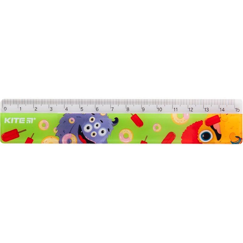 Лінійка пластикова Kite Jolliers K19-090-2, 15 см