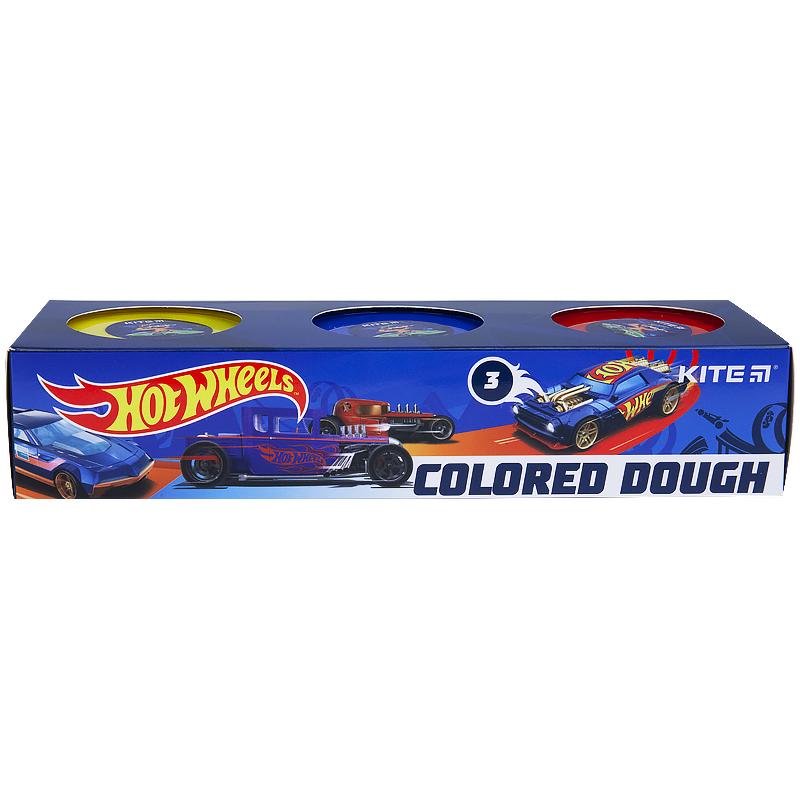 Тісто для ліпки кольорове Kite Hot Wheels HW21-151, 3*75 г