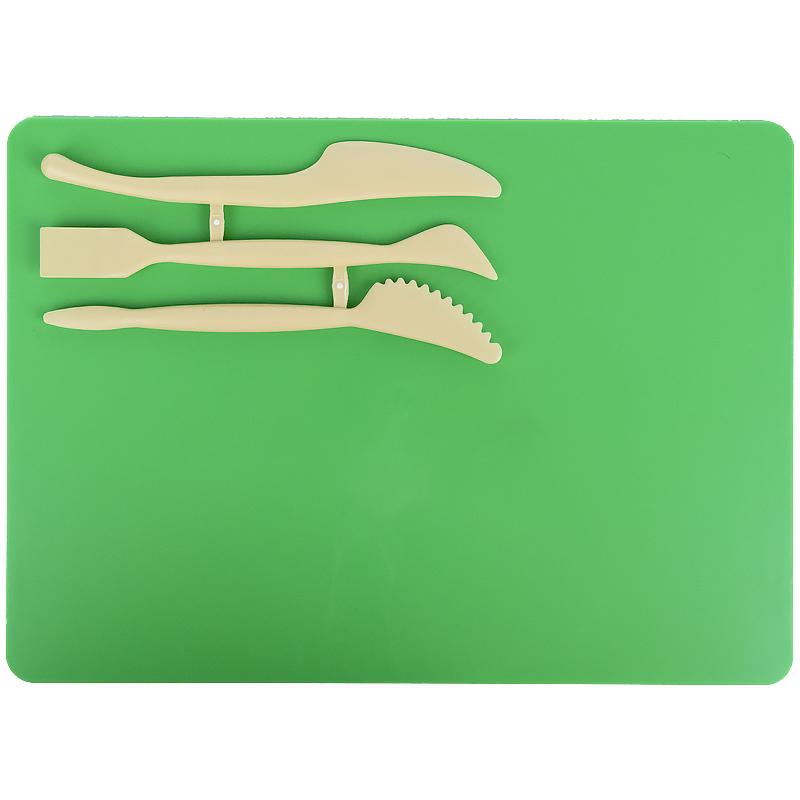 Набор для лепки Kite K17-1140-04 (доска + 3 стека), зеленый