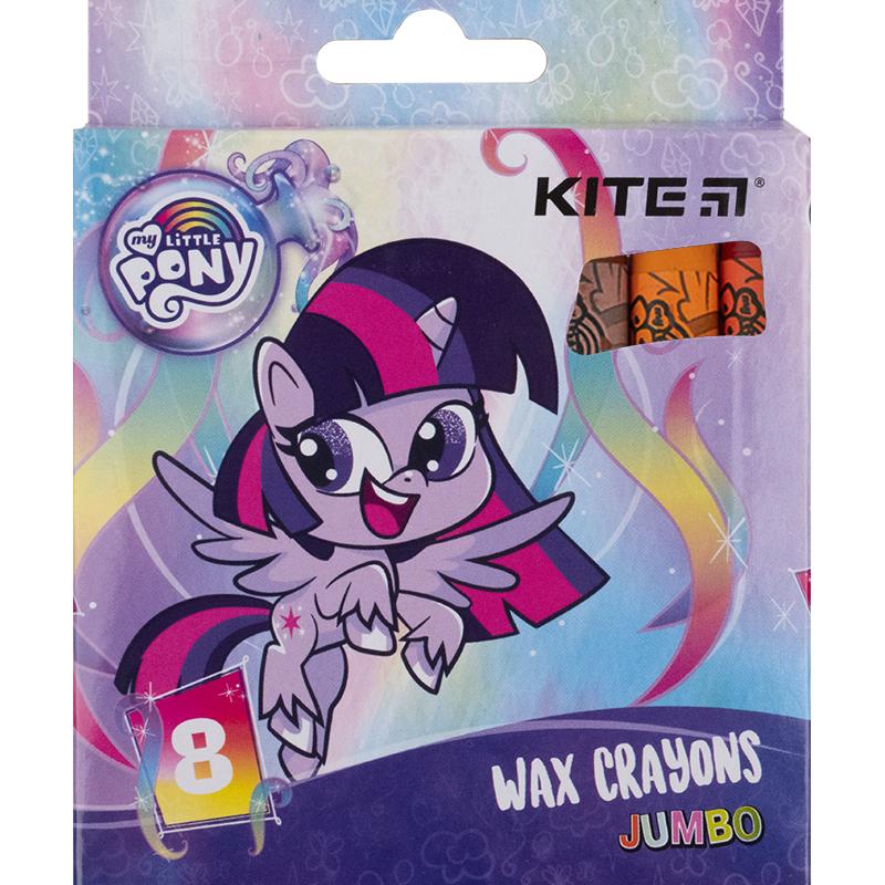 Крейда воскова Kite Jumbo My Little Pony LP21-076, 8 кольорів