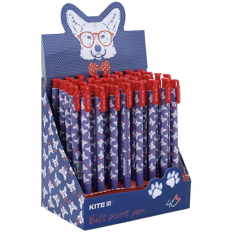 Ручка кулькова автоматична Kite Сorgi K21-363-01, синя