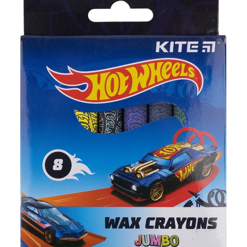 Крейда воскова Kite Jumbo Hot Wheels HW21-076, 8 кольорів