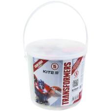 Крейда кольорова Kite Jumbo Transformers TF21-074, 15 шт. у відерці