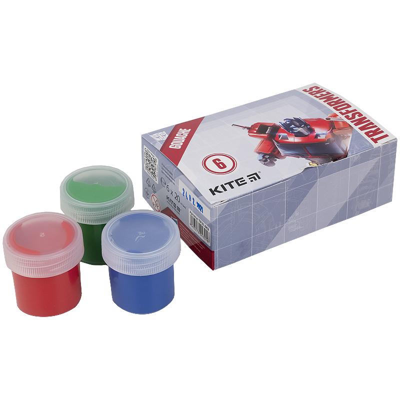 Гуаш Kite Transformers TF21-062, 6 кольорів
