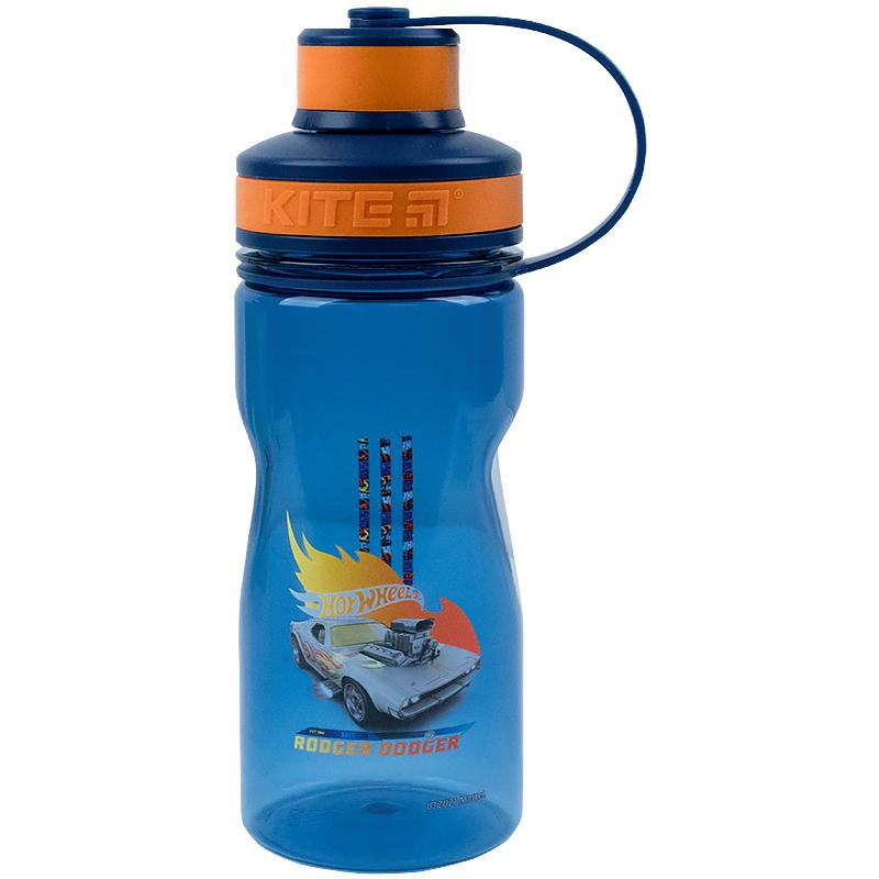 Пляшечка для води Kite Hot Wheels HW21-397, 500 мл, синя