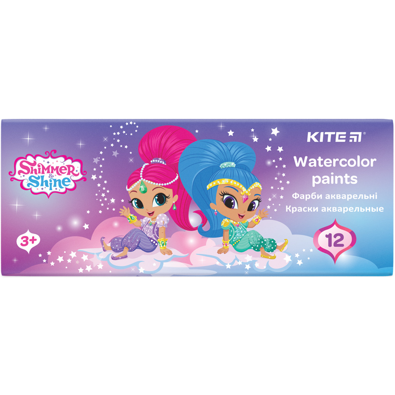 Краски акварельные в картонной упаковке Kite Shimmer&Shine SH20-041, 12 цветов