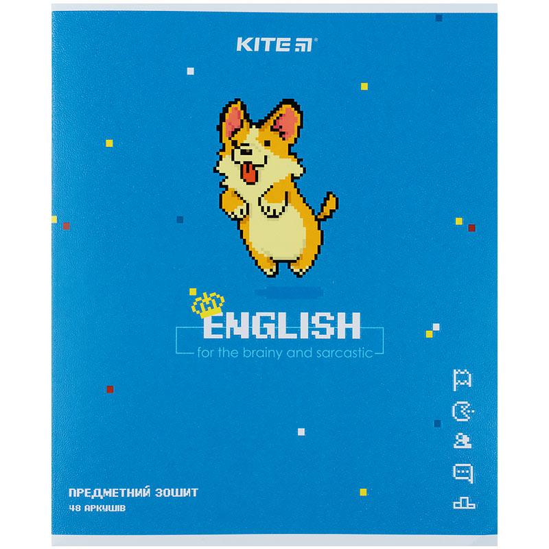 Зошит предметний Kite Pixel K21-240-10, 48 аркушів, лінія, англійська мова