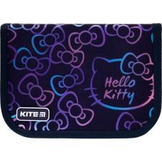Пенал без наполнения Kite Education Hello Kitty HK21-621, 1 отделение, 1 отворот