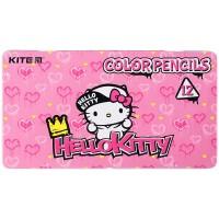 Карандаши цветные трёхгранные Kite Hello Kitty HK21-058 12 шт.