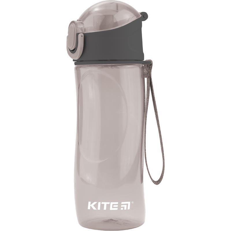 Пляшечка для води Kite K18-400-03, 530 мл, сіра