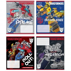 Тетрадь школьная Kite Transformers TF20-235, 12 листов, в косую линию