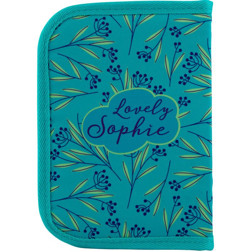 Пенал без наполнения Kite Education Lovely Sophie K20-622-1, 1 отделение, 2 отворота